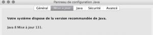 Mac OSX Panneau Java